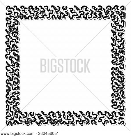 Photo Frame Vector Design. Doodle Hand Drawing. Vector Illustration