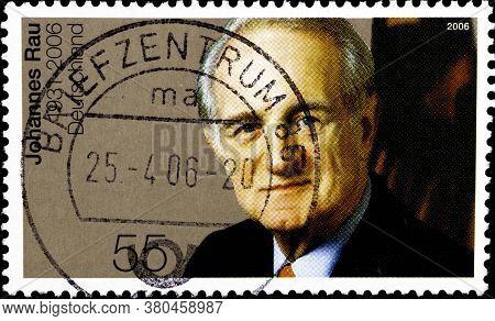 02 10 2020 Divnoe Stavropol Territory Russia The Postage Stamp Germany 2006 Johannes Rau Memorial 19
