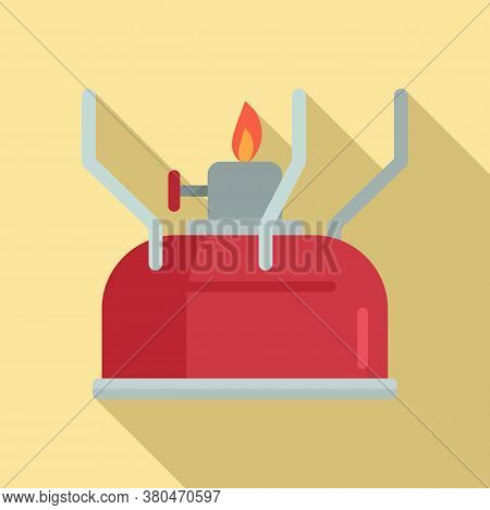 Survival Gas Lamp Icon. Flat Illustration Of Survival Gas Lamp Vector Icon For Web Design