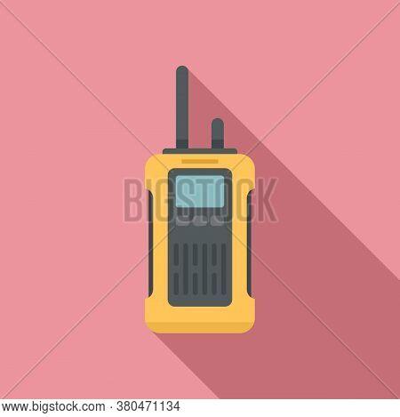 Survival Walkie Talkie Icon. Flat Illustration Of Survival Walkie Talkie Vector Icon For Web Design