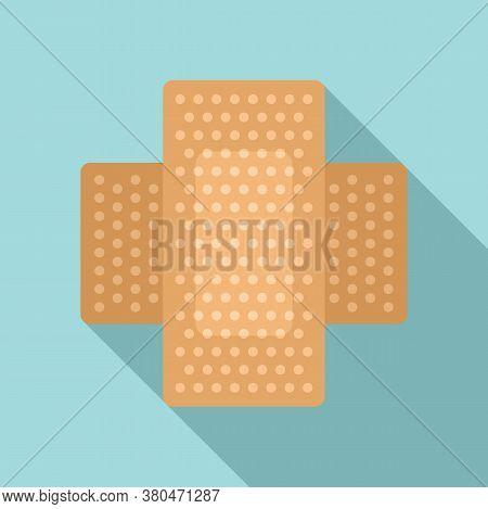 Survival Skin Plaster Icon. Flat Illustration Of Survival Skin Plaster Vector Icon For Web Design