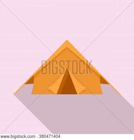 Survival Tent Icon. Flat Illustration Of Survival Tent Vector Icon For Web Design