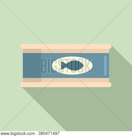 Survival Fish Tin Can Icon. Flat Illustration Of Survival Fish Tin Can Vector Icon For Web Design