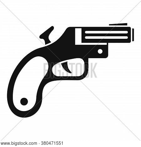 Flare Gun Icon. Simple Illustration Of Flare Gun Vector Icon For Web Design Isolated On White Backgr