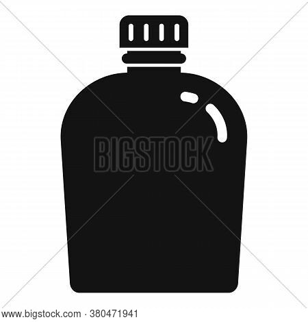 Survival Water Flask Icon. Simple Illustration Of Survival Water Flask Vector Icon For Web Design Is