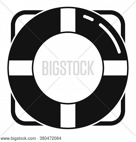 Survival Life Buoy Icon. Simple Illustration Of Survival Life Buoy Vector Icon For Web Design Isolat