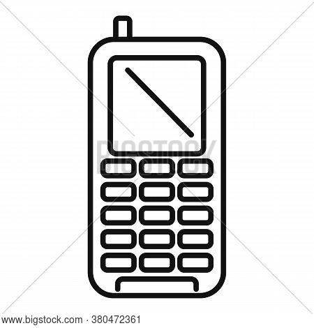 Survival Phone Icon. Outline Survival Phone Vector Icon For Web Design Isolated On White Background