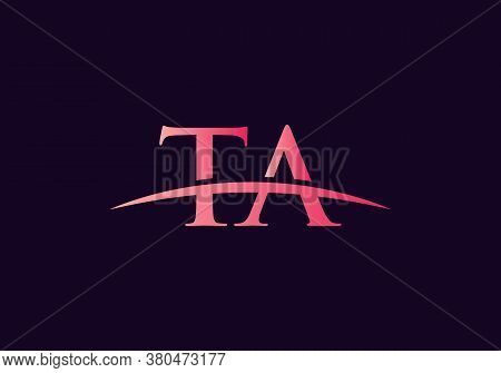 Creative Ta Logo Vector Template. Ta Letter Linked Logo For Business And Company Identity.