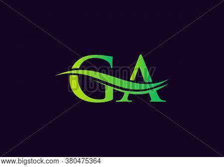 Letter Ga Logo Vector Template. Ga Letter Linked Logo For Business And Company Identity.