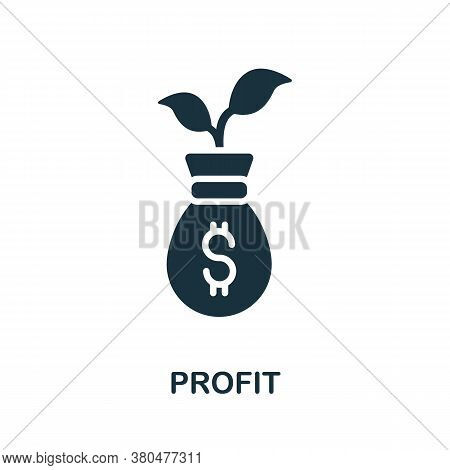 Profit Icon. Simple Element From Investment Collection. Creative Profit Icon For Web Design, Templat