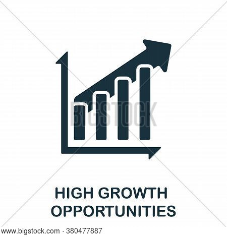 High Growth Opportunities Icon. Simple Element From Investment Collection. Creative High Growth Oppo