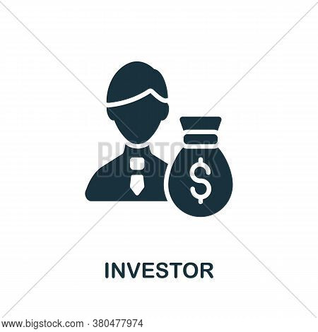 Investor Icon. Simple Element From Investment Collection. Creative Investor Icon For Web Design, Tem