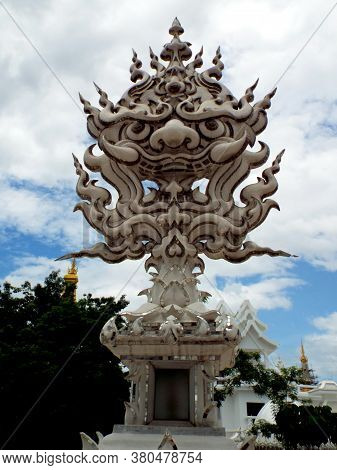Chiang Rai. Thailand, June 17, 2017: Wat Rong Khun. One Of The Many Sculptures In The White Temple I
