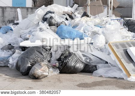A Large Amount Of Rubbish Piled Up