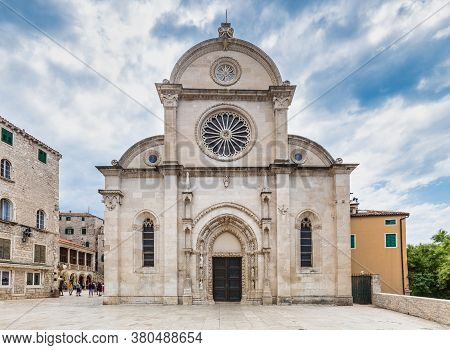 The Cathedral Of St. James, A Triple-nave Basilica In Sibenik, A Historic City On The Dalmatian Coas