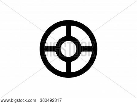 Wheel Of Taranis, Antique Scandinavian Sacred Symbol Wiccan Wheel. Vector Isolated On White Backgrou