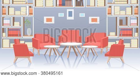 Modern Office Lobby Hall Interior Social Distancing Coronavirus Epidemic Protection Self Isolation C