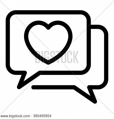 Woman Chat Empowerment Icon. Outline Woman Chat Empowerment Vector Icon For Web Design Isolated On W
