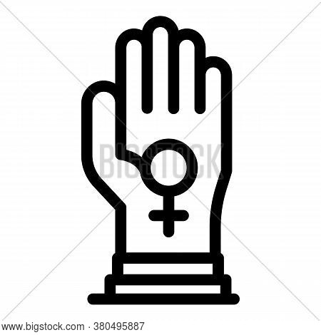 Keep Woman Empowerment Icon. Outline Keep Woman Empowerment Vector Icon For Web Design Isolated On W