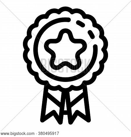 Woman Empowerment Emblem Icon. Outline Woman Empowerment Emblem Vector Icon For Web Design Isolated