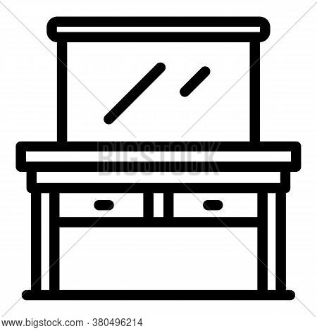 Dressing Room Furniture Icon. Outline Dressing Room Furniture Vector Icon For Web Design Isolated On
