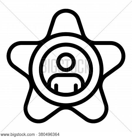 Star Actor Icon. Outline Star Actor Vector Icon For Web Design Isolated On White Background