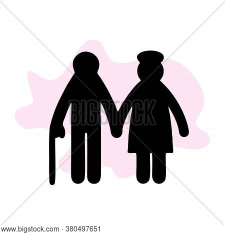 Old Men Icon. Element Of Life Married People Illustration. Premium Quality Graphic Design Icon. Sign
