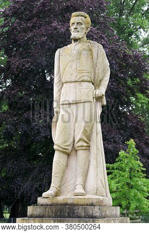 Thoissey, France - May 15, 2020: Statue Of Jean-baptiste Marchand In Thoissey. General Jean-baptiste