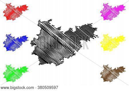 Tarn-et-garonne Department (france, French Republic, Occitanie Or Occitania Region) Map Vector Illus