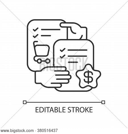 Selling Skills Linear Icon. Trading Business, Commercial Relationship Thin Line Customizable Illustr