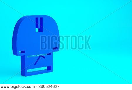 Blue Kosovorotka Is A Traditional Russian Shirt Icon Isolated On Blue Background. Traditional Nation