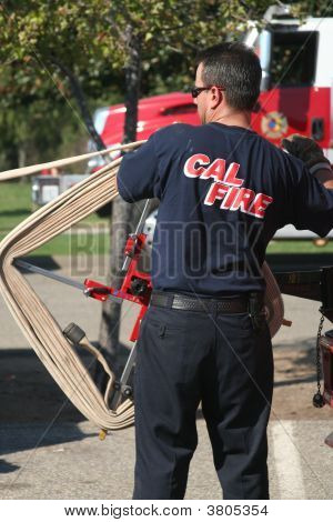 Firefighter Rolling Out