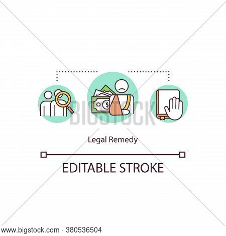 Legal Remedy Concept Icon. Judicial Relief Idea Thin Line Illustration. Legal Relief. Civil Law Juri