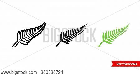 New Zealand Symbols Icon Of 3 Types Color, Black And White, Outline. Isolated Vector Sign Symbol.