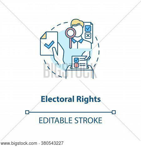 Electoral Rights Concept Icon. Right To Vote Idea Thin Line Illustration. Suffrage. Political Franch