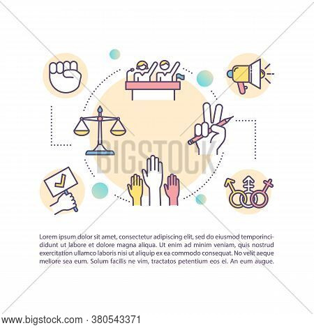 Civil Rights Concept Icon With Text. Individual Freedoms Protection. Desegregation Process. Ppt Page
