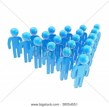 Group Of Symbolic Human Figures Isolated On White