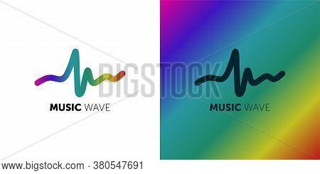 Logo Template Music Wave, Music, Dj, Audio System, Store. Brand, Branding, Company, Corporate, Ident