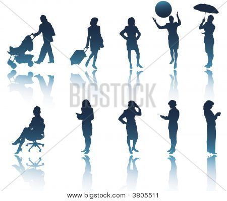 Modern Woman Silhouettes