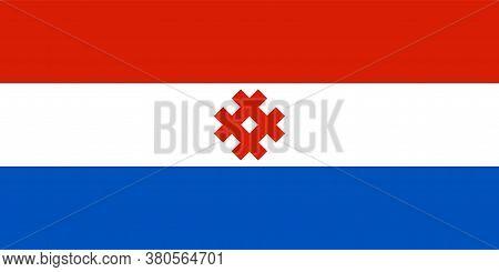 Flag Of Komi-permyak Autonomous Okrug In Perm Krai Of Russian Federation
