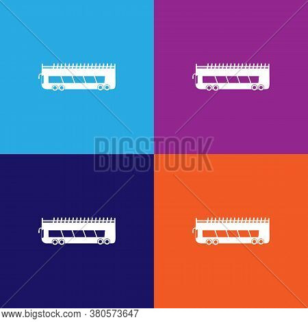 Double Decker Bus Icon. Element Of Car Type Icon. Premium Quality Graphic Design Icon. Signs And Sym