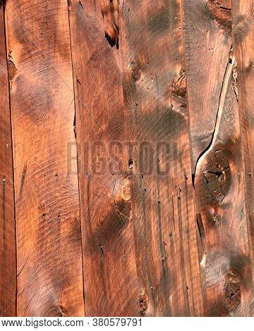 Rustic Wood Cabin Siding Of Settlers Cabin In Mining Camp In Idaho Mountains. Rustic Wood Grain Desi