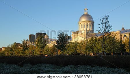 View of Marche Bonsecours in Old port in Montreal Quebec by a nice autumn day poster