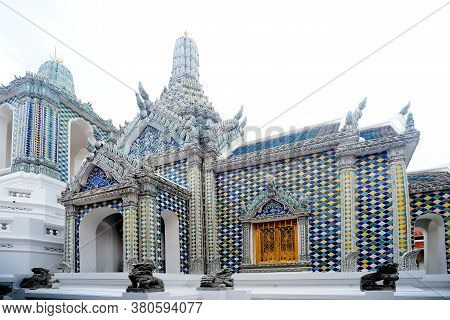 Hor Phra Gandhararat Part Of Wat Phra Kaew, It Was Erected By King Rama Iv And Used As The Chapel Of
