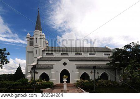 Nakhon Ratchasima, Thailand - 9 August 2020 : The Blessed Nicholas Bunkerd Kitbamrung Church Khao Ya