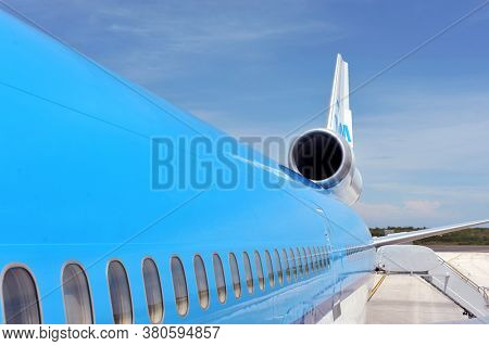AMSTERDAM KLM planes at Schiphol Airport May 27, 2019 in Amsterdam, The Netherlands.