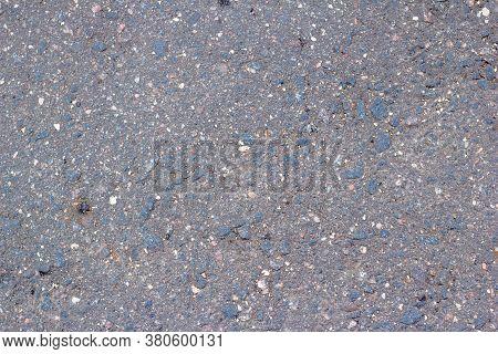 Surface Grunge Rough Of Asphalt, Tarmac Grey Grainy Road, Texture Background,