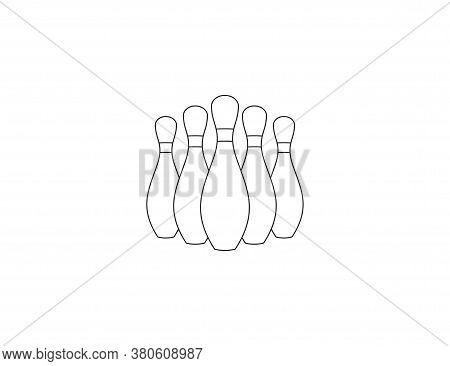 Bowling, Game, Strike Icon. Vector Illustration, Flat Design.