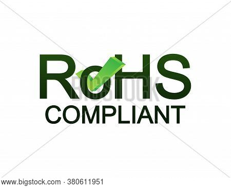 Green Rohs. Logo, Icon, Label. Quality Mark. Business Icon. Vector Stock Illustration.