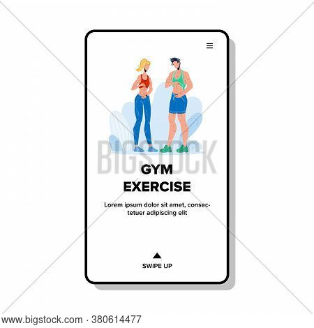 Gym Exercise Make People Abs Flat Abdomen Vector
